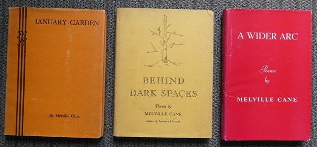 Image for JANUARY GARDEN / BEHIND DARK SPACES / A WIDER ARC.  THREE INSCRIBED BOOKS + LETTERS AND ADDITIONAL PAPERS.