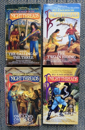 Image for NIGHT-THREADS SERIES - FIRST FOUR VOLUMES.  1. THE CALLING OF THE THREE.  2. THE TWO IN HIDING.  3. ONE LAND, ONE DUKE.  4. THE CRAFT OF LIGHT.