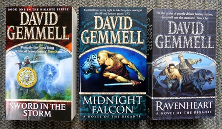 Image for THE RIGANTE SERIES.  FIRST 3 VOLUMES.  1. SWORD IN THE STORM.  2. MIDNIGHT FALCON.  3. RAVENHEART.  3 BOOKS IN TOTAL.