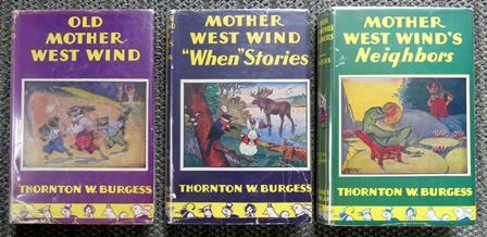 "Image for OLD MOTHER WEST WIND / MOTHER WEST WIND ""WHEN"" STORIES / MOTHER WEST WIND'S NEIGHBORS.  3 BOOKS."