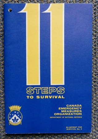 Image for 11 STEPS TO SURVIVAL.  BLUEPRINT FOR SURVIVAL NO. 4.