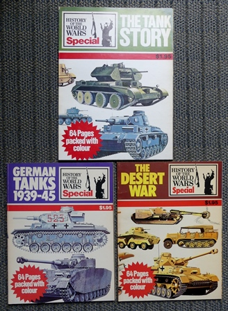 Image for THE TANK STORY / GERMAN TANKS 1939-45 / THE DESERT WAR.  3 VOLUMES.