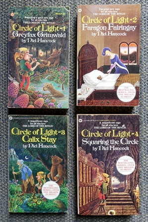 Image for CIRCLE OF LIGHT.  4 VOLUME SET.  1. GREYFAX GRIMWALD.  2. FARAGON FAIRINGAY.  3. CALIX STAY.  4. SQUARING THE CIRCLE.  4 BOOKS IN TOTAL.