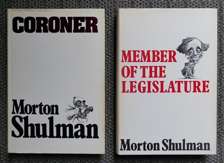 Image for CORONER / MEMBER OF THE LEGISLATURE.  2 BOOKS.