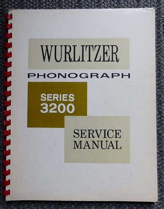 Image for WURLITZER PHONOGRAPH SERIES 3200 SERVICE MANUAL.