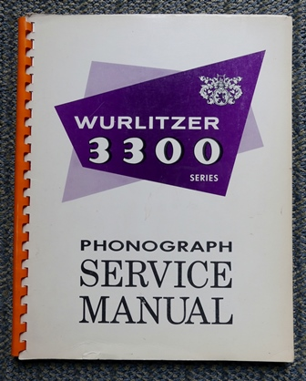 Image for WURLITZER 3300 PHONOGRAPH SERVICE MANUAL  (AMERICANA III.)