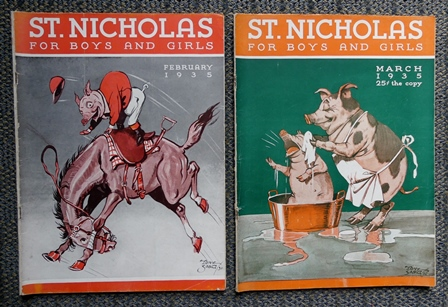 Image for ST. NICHOLAS FOR BOYS AND GIRLS.  FEBRUARY 1935 & MARCH 1935.  2 ISSUES.